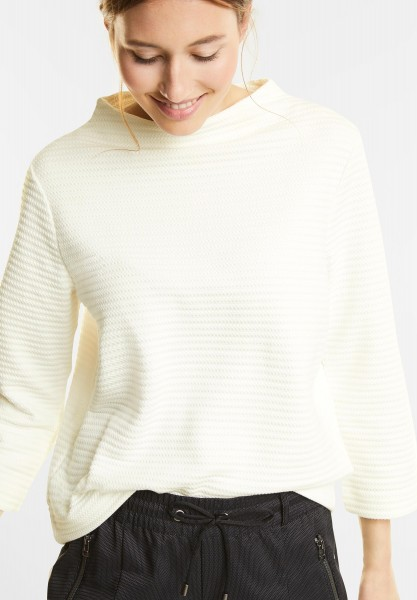 Street One - Turtleneck Pullover Krisi in Off White