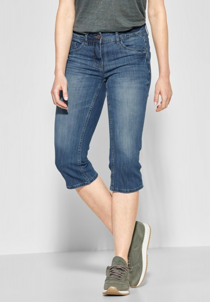 CECIL - 3/4 Denim Charlize in Authentic Used Wash