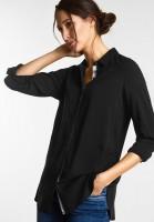 Street One - Longbluse im Hemdstyle in Black