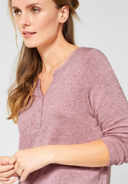 CECIL - Weiche Melange-Bluse in Rose Melange