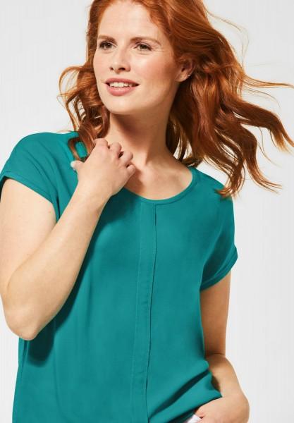 CECIL - Unifarbenes Shirt Indra in Vital Emerald Green