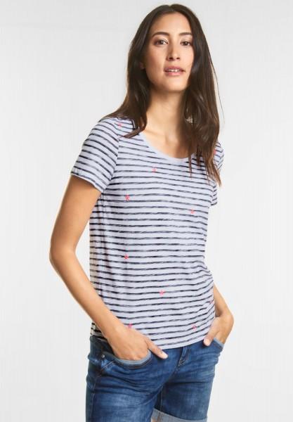Street One - Insideout Shirt mit Streifen in White