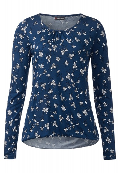 Street One - Shirt mit Gummizug Iwanka Delta Blue