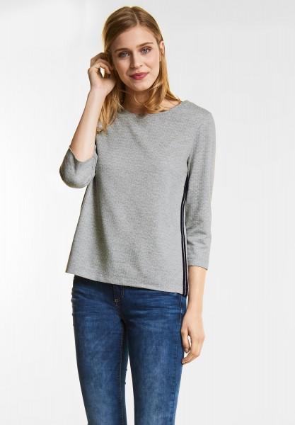 Street One Softes Grafikprint Shirt in Moon Grey Melange