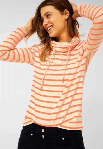 CECIL - Shirt mit Streifen Muster in Light Macchiato Beige