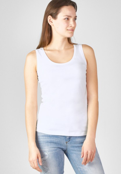 Street One Organic Rundhalstop Bethy in White
