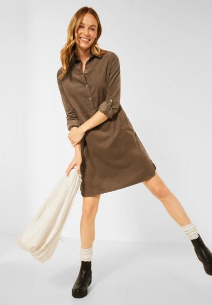 CECIL - Cord Kleid in Unifarbe in Toffee Brown