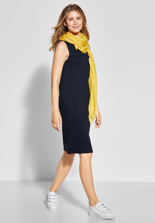 CECIL - Ärmelloses Jersey Kleid in Deep Blue reduziert im Sale