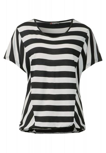 Street One - Gestreiftes Shirt Florina Black