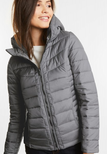 Street One - Kurze Steppjacke in Anthrazite Melange