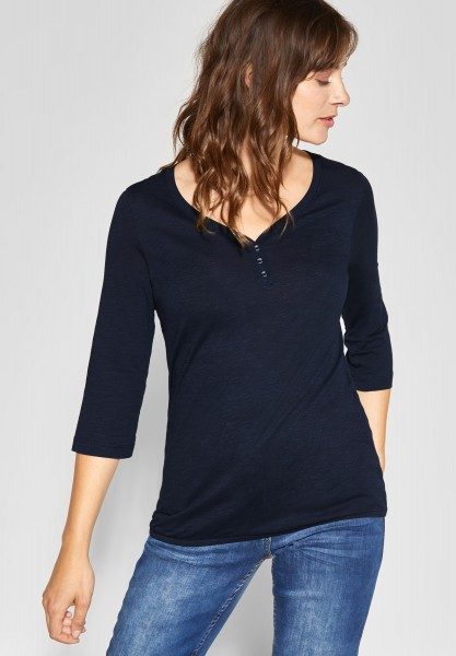 CECIL - Basic-Shirt Annika in Deep Blue