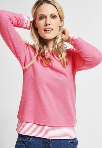 CECIL - Sweatpullover in 2in1 Optik in Bubblegum Pink