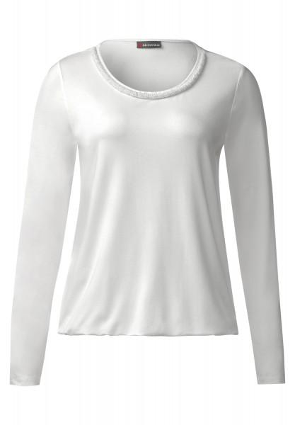 Street One - Shirt mit Perlenkante Jakoba Off White