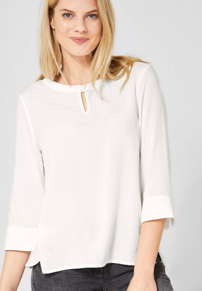 CECIL - Basic Bluse in Pure Off White