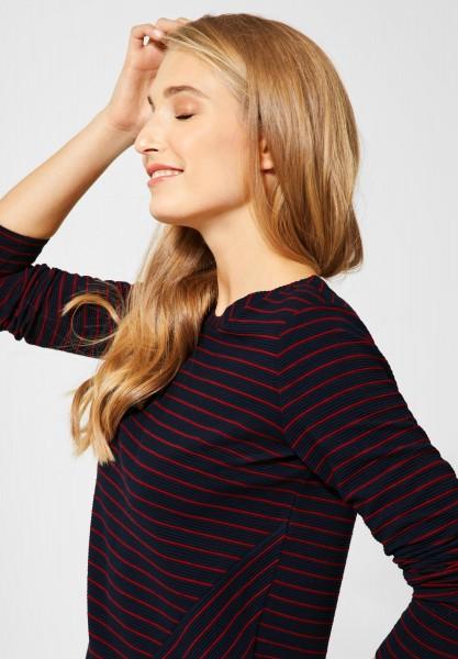 CECIL - Shirt Karina mit Streifen in Deep Blue