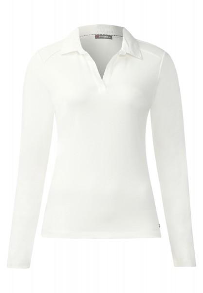 Street One - Poloshirt Gulvia Off White