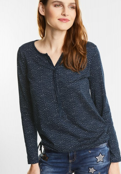 Street One - Lässiges Langarm Shirt Moni in Night Blue