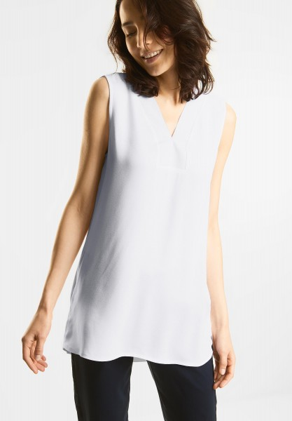 Street One - Strukturmix Longtop in White