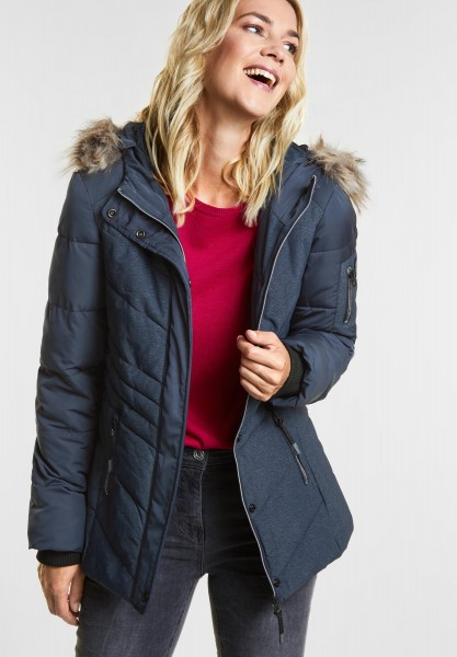CECIL - Materialmix Melange Jacke in Deep Blue