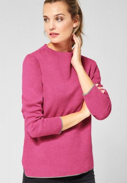 CECIL - Pullover in Unifarben in Beetroot Pink Melange