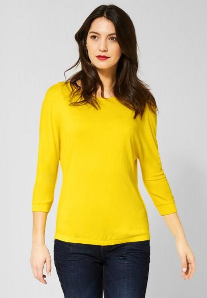 Street One - Shirt mit Fledermausärmeln in Shiny Yellow