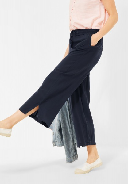 CECIL - Loose Fit Hose mit Wide Legs in Deep Blue