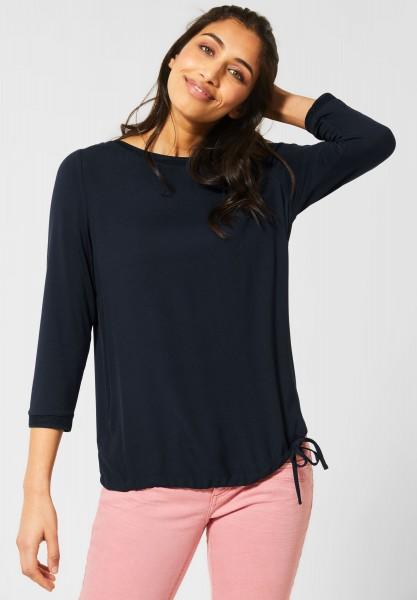 Street One - Shirt in Unifarbe in Deep Blue