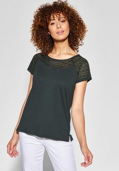 Street One - Shirt mit Spitze Scarlett in Chilled Green