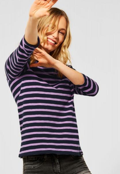 CECIL - Raglan-Shirt mit Streifen in Soft Violet