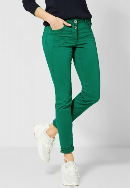 CECIL - Colour Hose im Casual Fit in Lucky Clover Green