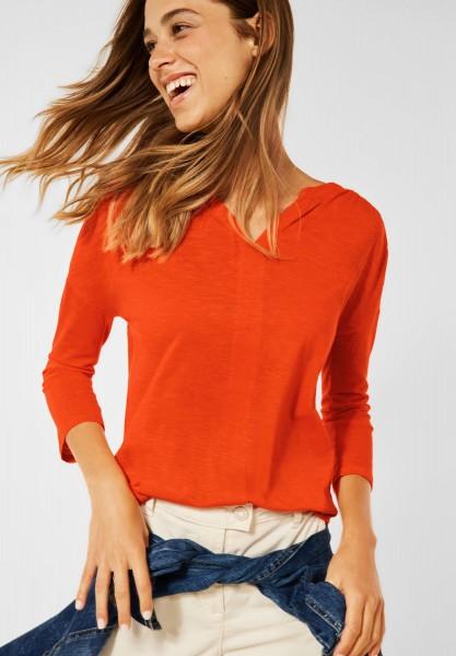 CECIL - Shirt im Tunika Style in Smoked Paprika Orange
