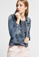 CECIL - Jeansjacke Tyra in Mid Blue Wash