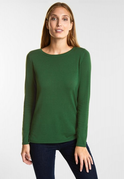 CECIL - Softer Basic Pullover in Fresh Meadow Green