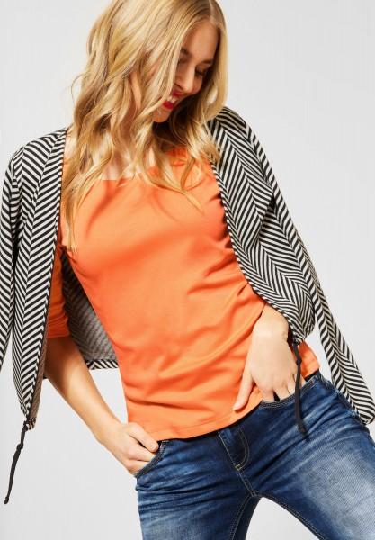 Street One - Basic Shirt Pania in Strong Mandarine