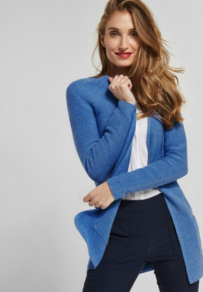 CECIL - Struktur Strickjacke Romina in Cornflower Blue