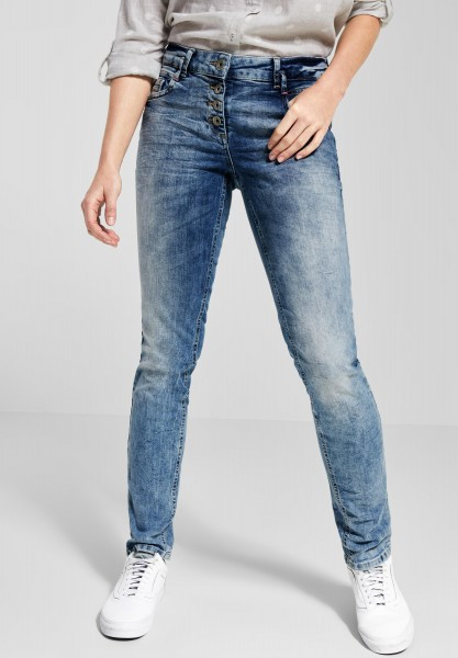 CECIL - Verwaschene Denim Scarlett in Light Blue Used Wash