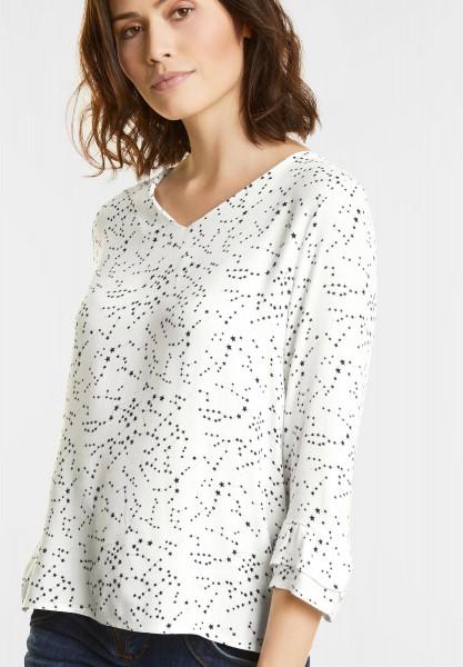 Street One - Shirt mit Ärmelvolants in Off White