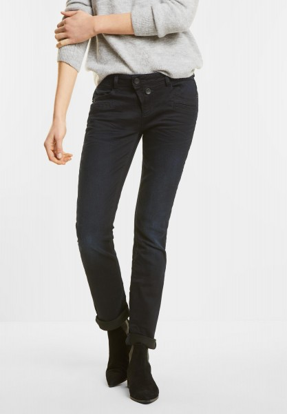 Street One - Loose Fit Denim Kate in Dark Blue Wash