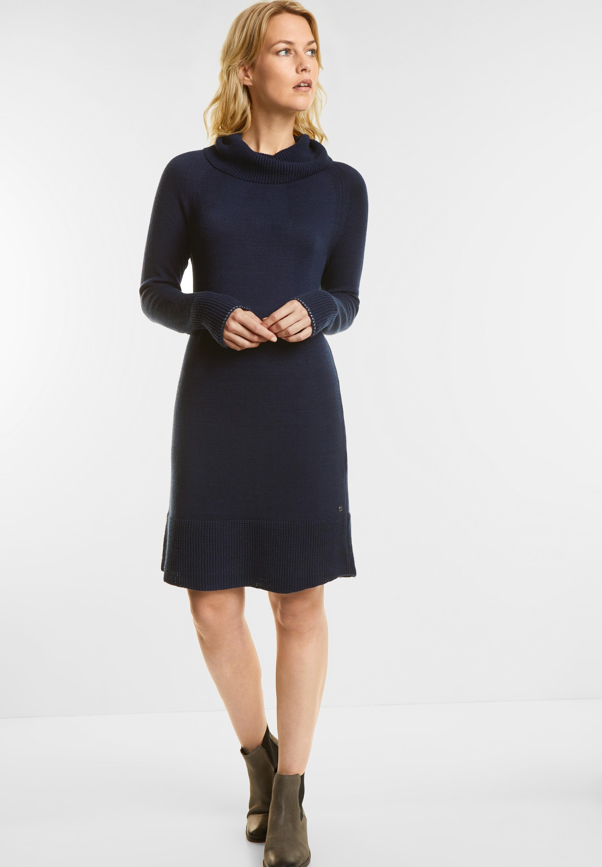 Kleid mit Volumenkragen in Deep Blue von Cecil online kaufen