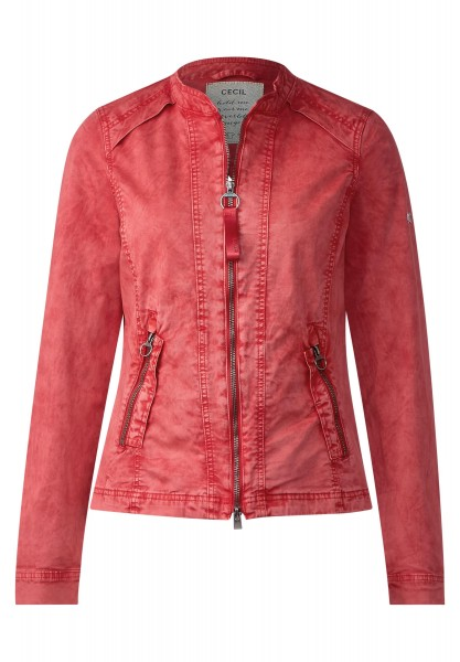 CECIL - Kurze Oil Wash Jacke in Just Red