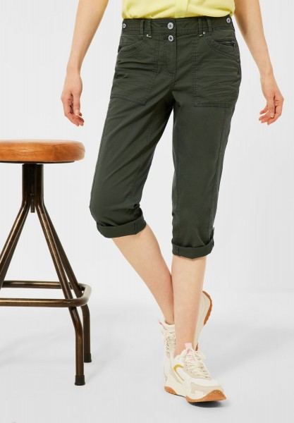 CECIL - Casual Fit Hose in Inch 22 in Utility Olive