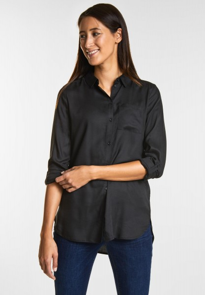 Street One Softe Basic Longbluse in Black