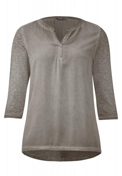 Street One - Materialmix-Shirt Georgia Mocha Oak