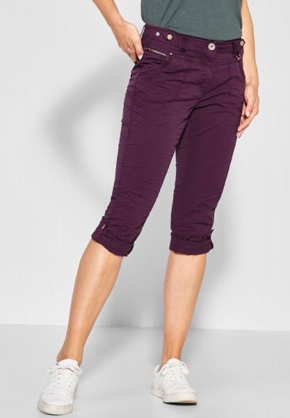 CECIL - Loose Fit Hose New York in Deep Berry