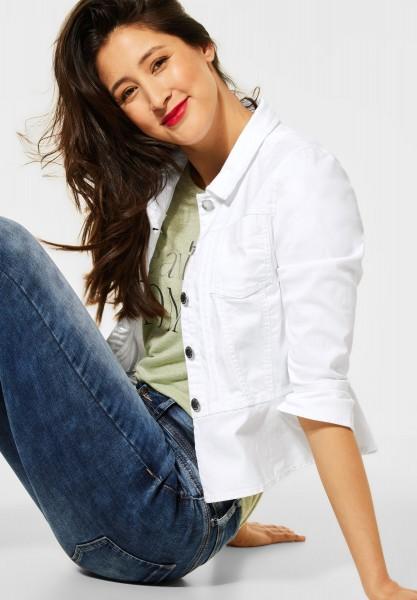 Street One - Indoor Jacke in Unifarbe in White
