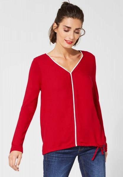Street One - Langarmshirt Ayla in Love Red