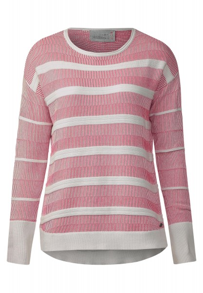 CECIL - Pullover im Streifenmix in Raptured Pink