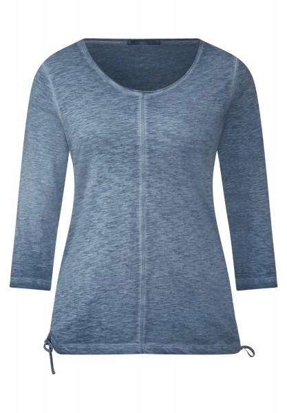 CECIL - Washed 3/4-Arm Shirt Jamie Deep Blue