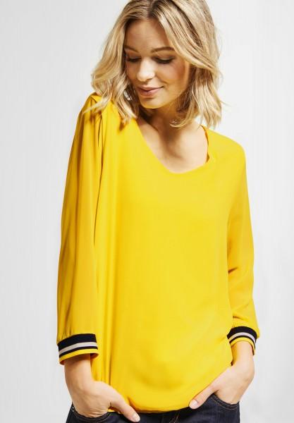 Street One - Zweilagiges Shirt Rafaela in Sunshine Yellow