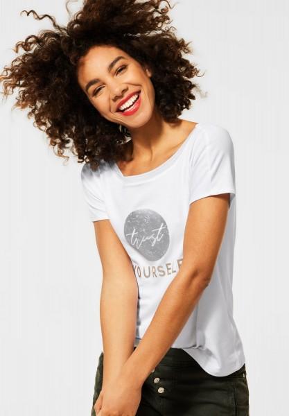 Street One - Shirt mit Frontprint in White